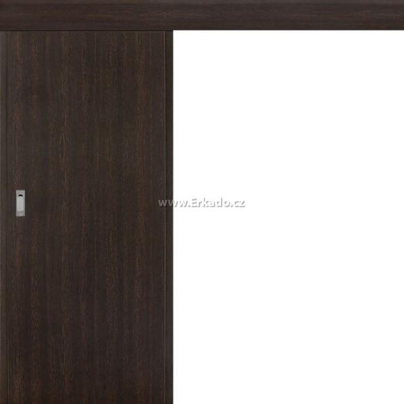 Posuvné dveře na stěnu Plné Hladké