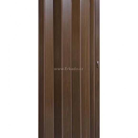Shrnovací dveře PIONEER - ořech