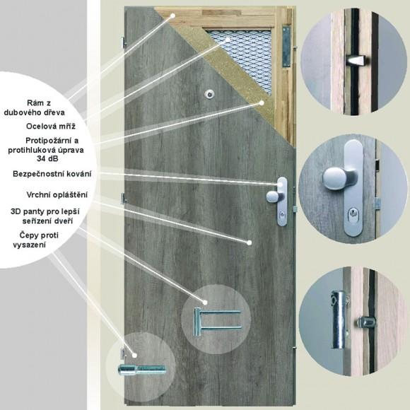 Bezpečnostní dveře do domu BT 3
