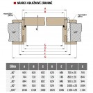 Obložkové zárubně 460-480 OŘECH FINISH 90 P